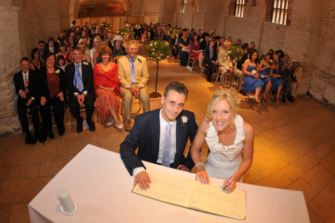 Signing Wedding Register